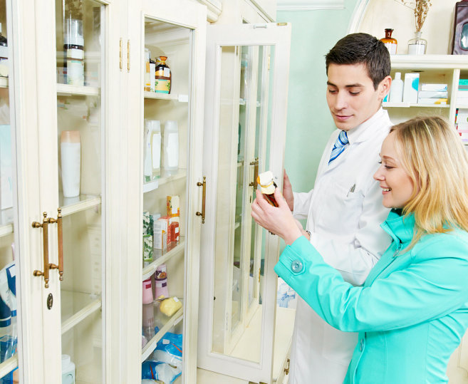 pharmacists checking on a medicine